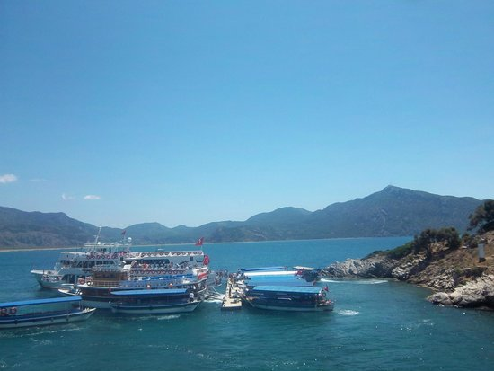 Dalyan Mud Bath: The change to the little boats