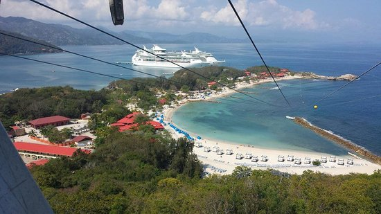 Labadee: My last look before ziplining!