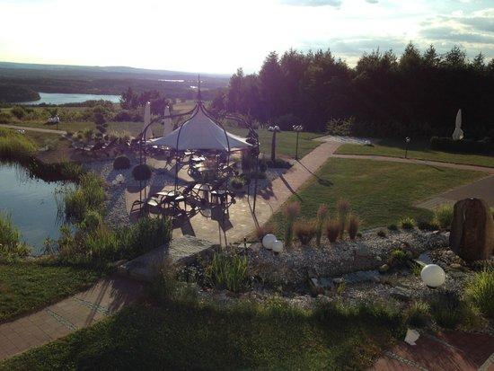 Landhotel Birkenhof: Blick von der Terasse des Restaurants