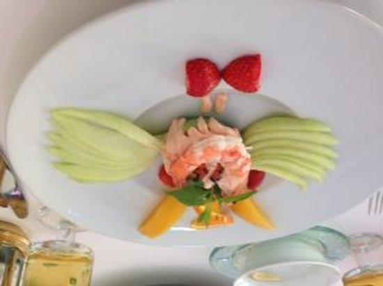 The Love Boat: avacado and shrimp