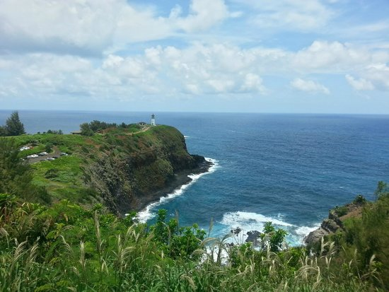 Kilauea Point National Wildlife Refuge: view from the part outside