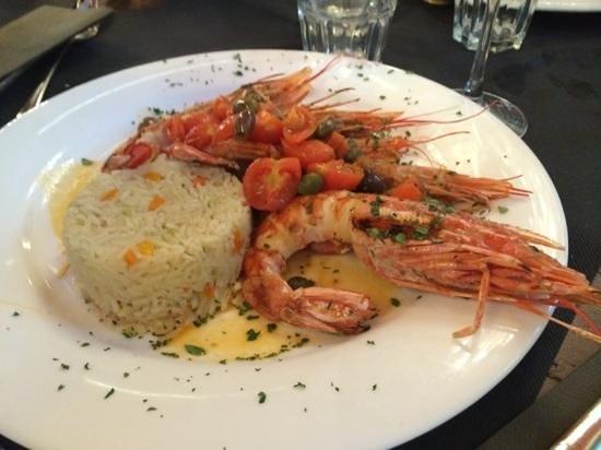 Al Burigiott: Burigiot - Carate Brianza ... gamberoni con riso !!!