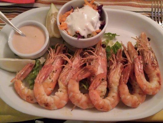 La Taberna: Grilled king prawns
