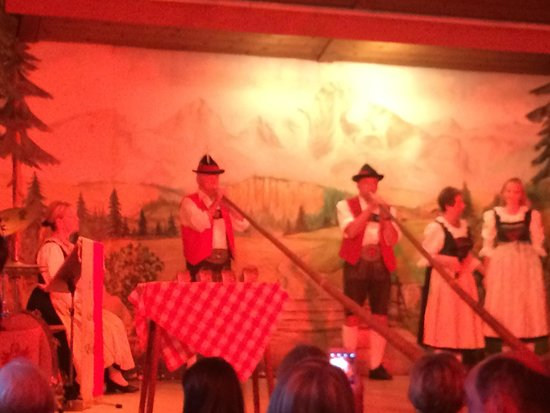 Tiroler Abend Familie Gundolf: Tube blowing. Sorry do not know the name of the instrument :(