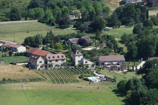 Hotel Spa Le Saint Cirq: The hotel from Saint Cirq Lapopie