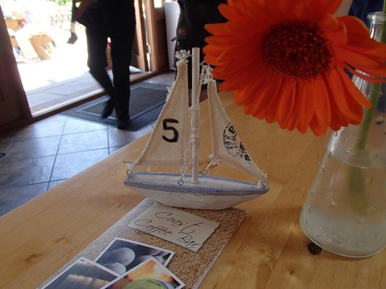 Coast Coffee Bar and Bistro: Table numbers were cute