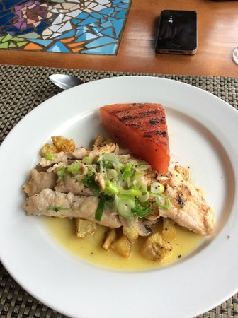 Las Ventanas Restaurant: lunch - trout with grilled watermelon