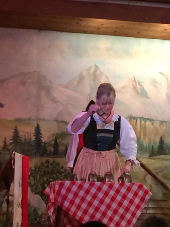 "Tyrolean Evenings with the Gundolf Family : Playing cow bells. If you watch Sat Night live, you will appreciate ""more cow bell""!  :)"