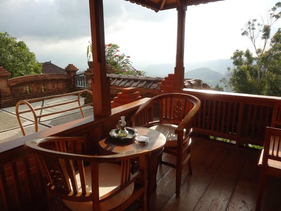 Puri Lumbung Cottages: view from our balcony