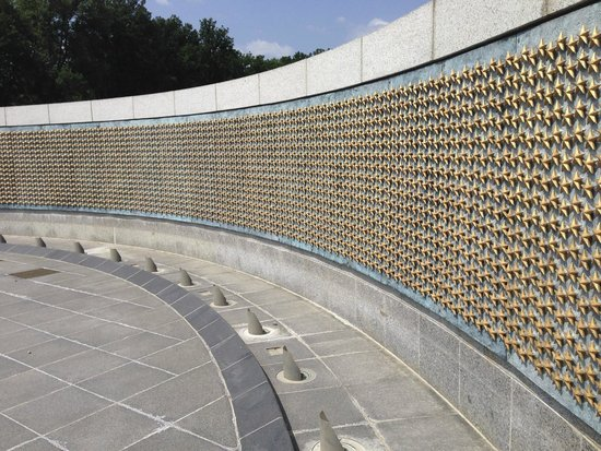 DC by Foot: These stars represent people who have served and died in their service to this country. WWII