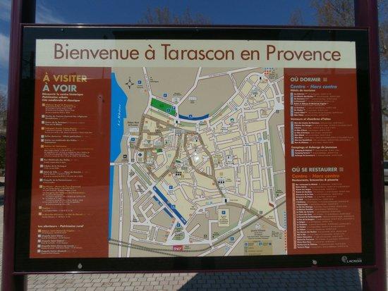 Chateau de Tarascon: pianta della città