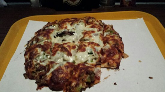 Red's Savoy Pizza: Veggie Pizza (after I took the corner out of it). Very good!