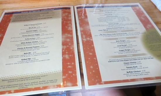 The Rendezvous: Adequate lunch menu