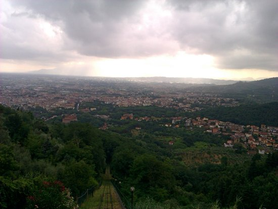 Funicolare di Montecatini Terme: View from the funicular