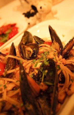 Locanda Colibri: seafood spaghetti!