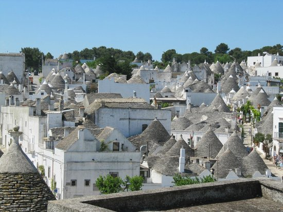 The Trulli of Alberobello: Trulli house from a distance