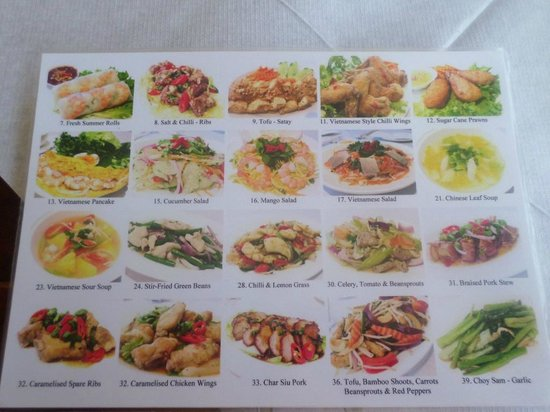 V-Namese Restaurant: Photo menu