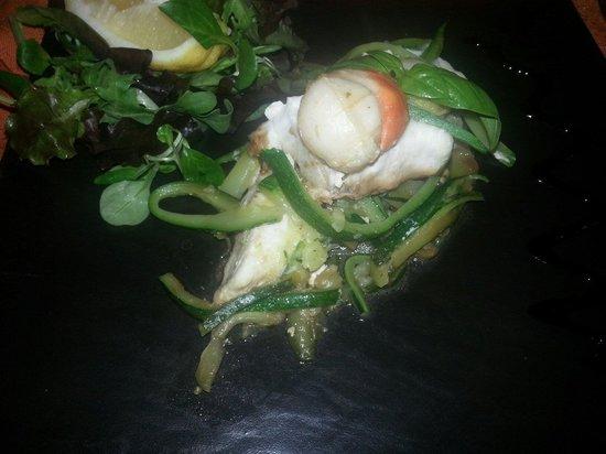 Scalvini: Gallinella  con capesante  e  zucchine