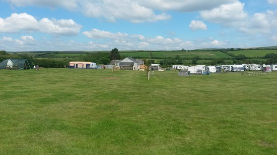 Higher Moor Farm: View from our tent