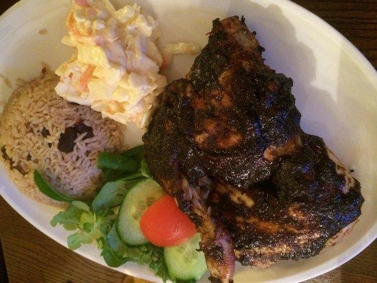White Lion Bar & Kitchen: Jerk Chicken - delicious!