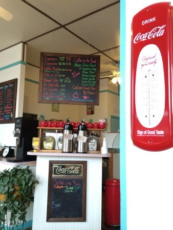 Lollypops has a nice coffee bar.