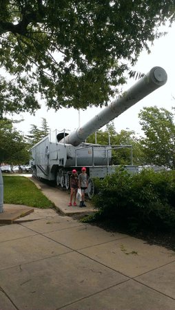 National Museum of the United States Navy: Rail Gun, 14 inch