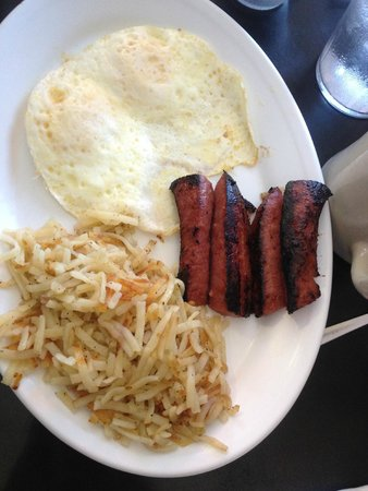 Montgomery Street Cafe: Eggs, Hash Browns and Hilshire Sausage Link