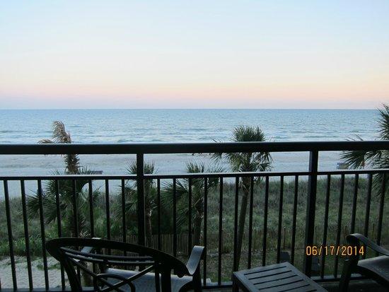 Ocean Reef Resort: view from third floor balcony