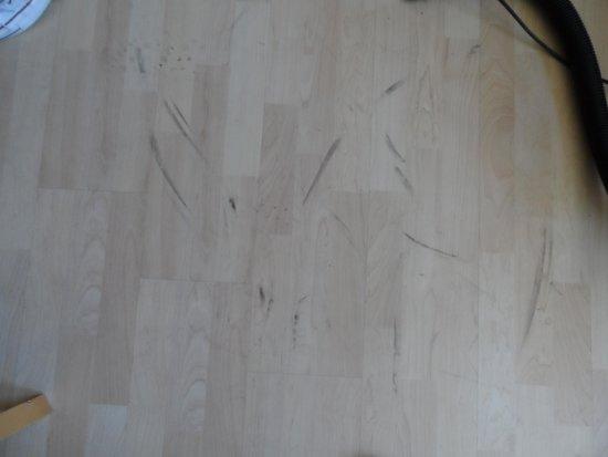 Atlantic Reach: dirty foot prints left