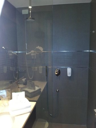 Best Western Plus Quid Hotel Venice Airport: Bathroom with no shower door