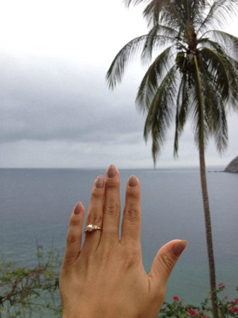 Casa Isabel: View from our room and my lovely pearl engagement ring :)