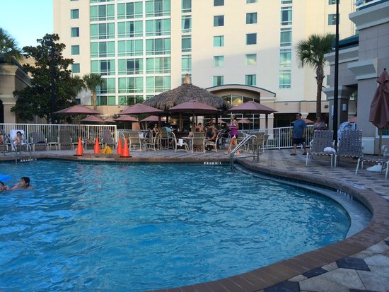 Crowne Plaza Orlando Universal : Pool area had a repair taking place but was still useable.