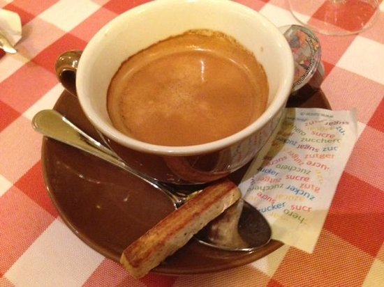 Raclette Stube: Espresso to complete the meal
