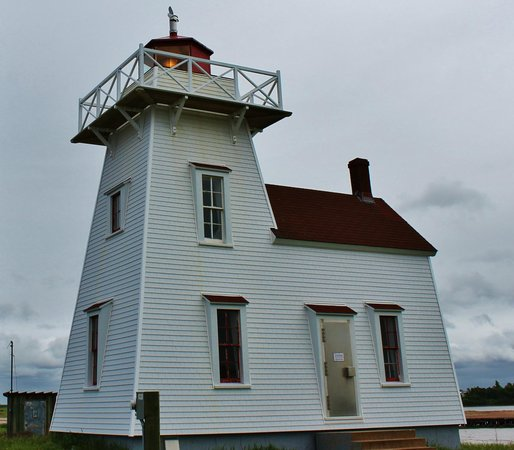 North Rustico Beach: Lighthouse on the point