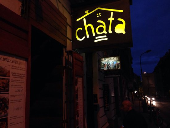 Chata : The sign from the outside