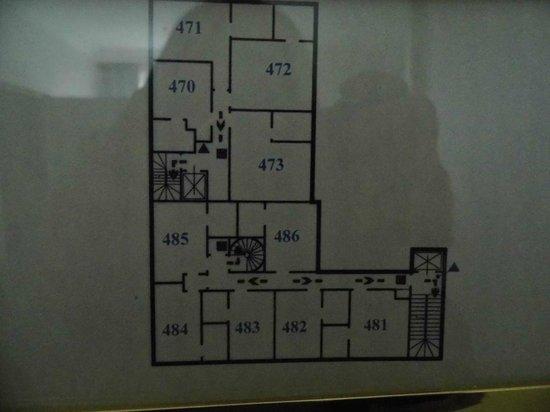 Hôtel Villa d'Est : Zimmer-Etagenplan