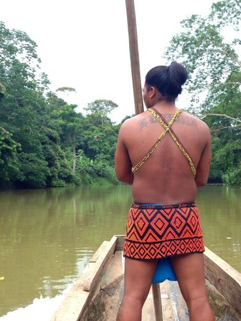 Embera Village Tours & More : The short boat ride to the village.