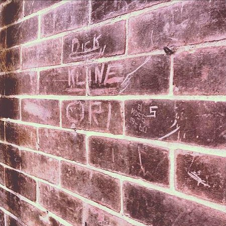 Preston Castle: Old names carved on the outside walls
