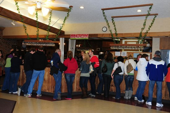 Fenn Valley Vineyards : the tasting room, on a busy fall day...