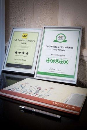 Harwood House: Hotel Awards