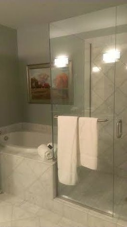 Woolley's Classic Suites - Denver Airport: bathroom with separate tube and shower