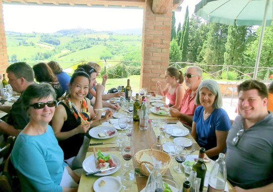 Walkabout Florence Tours: My lunch group! Food was divine!