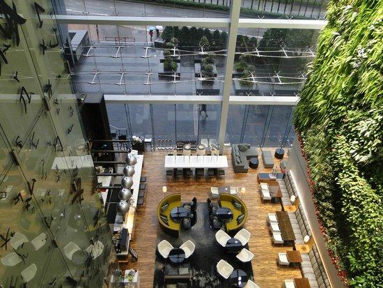 Hotel ICON: vista panorâmica da recepcao