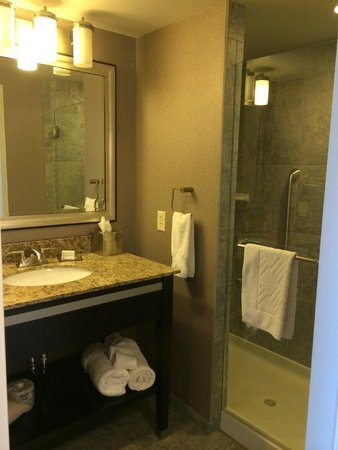 The Strathallan Rochester Hotel & Spa - a DoubleTree by Hilton: nice upgrade bathroom