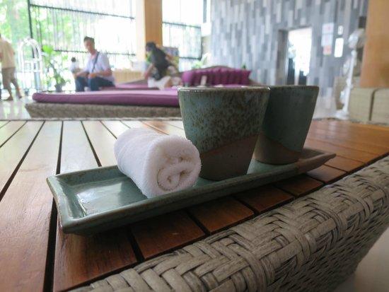 The Senses Resort & Pool Villas: Welcoming drinks