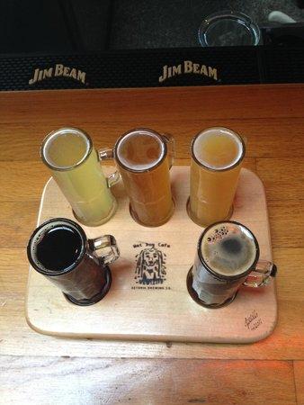 Wet Dog Cafe & Brewery: Beer Sampler