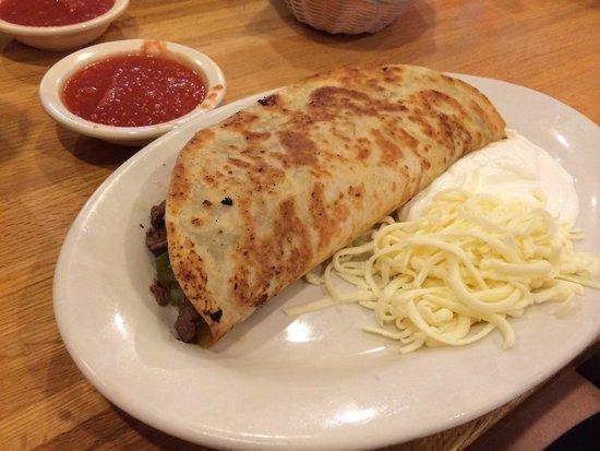 Los Amigos: Steak fajita quesadilla - it's huge!!
