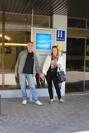 Novotel Madrid Puente de la Paz : Ingreso al hotel