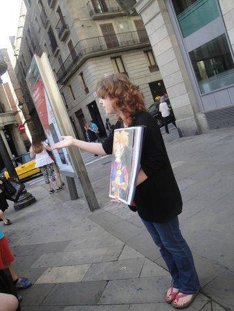 Runner Bean Tours Barcelona : Ann Maire and her stories.