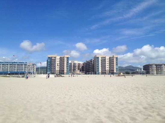 WorldMark by Wyndham Seaside : View from the beach to the property